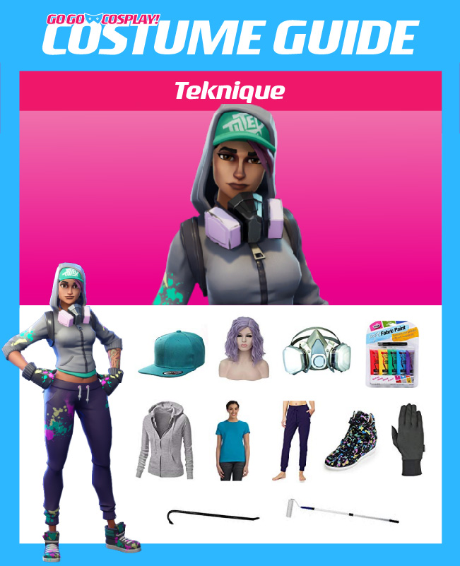 Teknique Costume From Fortnite Diy Guide For Cosplay Halloween