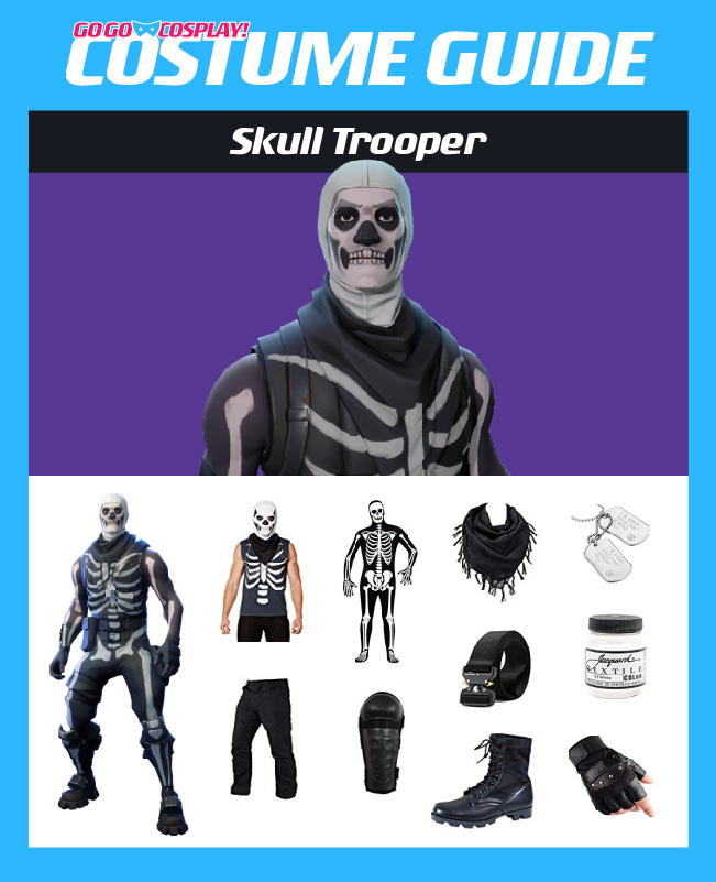 Skull Trooper Costume From Fortnite Diy Guide For Cosplay Halloween