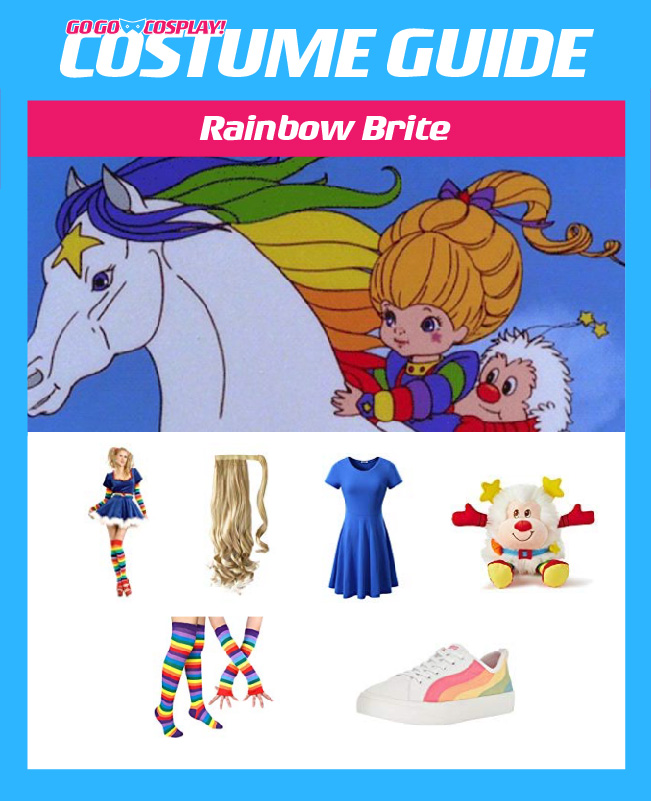 rainbow brite costume diy cosplay with wig and dress rainbow brite costume diy cosplay