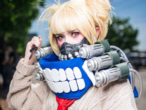 My Hero Academia League of Villains Himiko Toga Cosplay Costumes Uniform Props